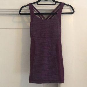 Lululemon patterned strappy back top in purple